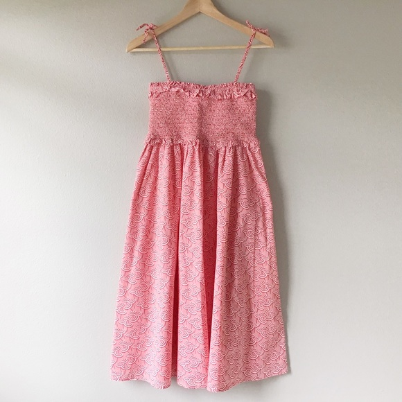 J Crew Crewcuts Girls Size 16 Tie Bow Back Cotton Sun Dress MSRP $68 - EUC!!!